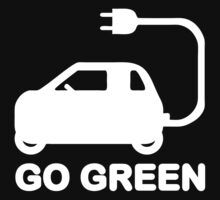 Go Green ~ Drive Electric Cars Kids Clothes