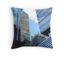 Another View 42nd and 8th, Times Square District, Manhattan, N.Y. Throw Pillow