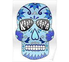 Blue Kappa Skull Poster