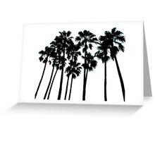 palm skyline ... Greeting Card