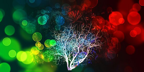 Bare Tree - Dreams of green and red. by Lynne Haselden