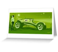 The race across the amazing green planet Greeting Card