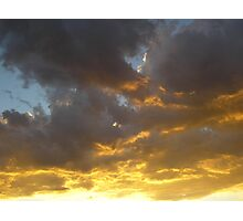 Fire in the Sky -Strato-Cumulus Photographic Print