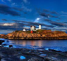 Nubble Lighthouse by Ron Risman