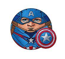 Captain America CircleToon Photographic Print