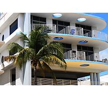 Miami Art Deco Hotel Photographic Print