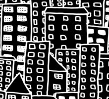 Cityscape Doodling #2 Sticker