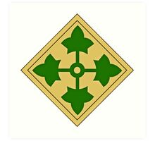 4th Infantry Division Art Print