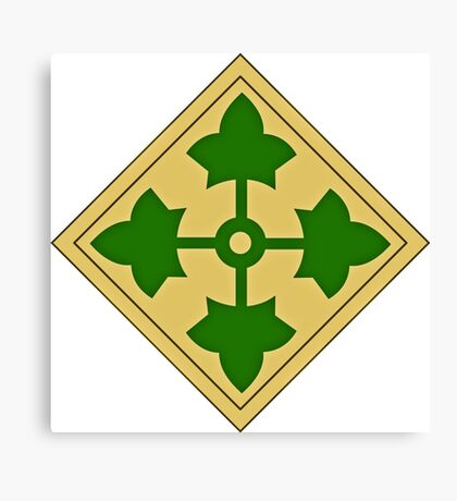 4th Infantry Division Canvas Print