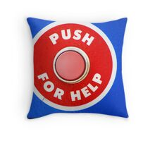 Push For Help Throw Pillow