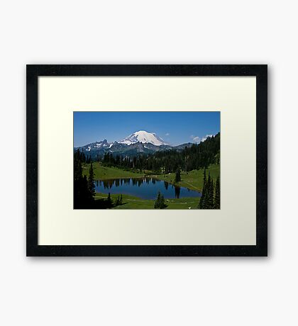 Mt. Rainier and Tipsoo Lake (Mt. Rainier National Park) Framed Print