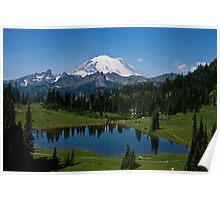 Mt. Rainier and Tipsoo Lake (Mt. Rainier National Park) Poster