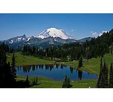 Mt. Rainier and Tipsoo Lake (Mt. Rainier National Park) Photographic Print