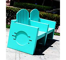 Miami Art Deco Chair Photographic Print