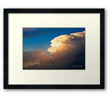 Glow in the Sky Framed Print