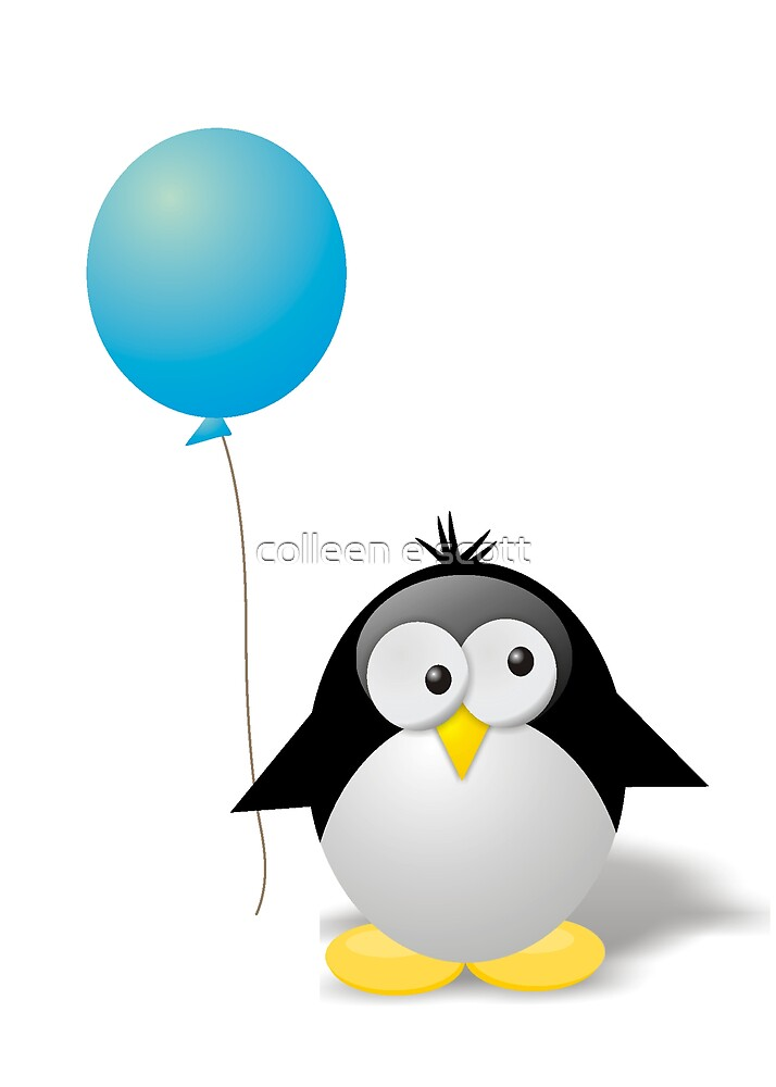 Cool Penguin by colleen e scott