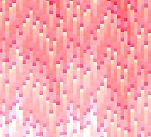 Coral and Pink Gradient 8-Bit Trendy Pattern by Blkstrawberry