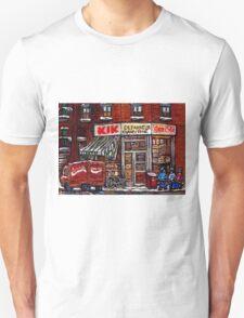 MONTREAL ART CITY LANDSCAPE KIK COLA DEPANNEUR BEST MONTREAL PAINTINGS Unisex T-Shirt