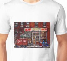 MONTREAL ART CITY LANDSCAPE KIK COLA DEPANNEUR BEST MONTREAL PAINTINGS Unisex T-Shirt