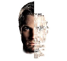 My Name is Oliver Queen Photographic Print