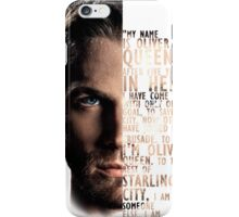 My Name is Oliver Queen iPhone Case/Skin