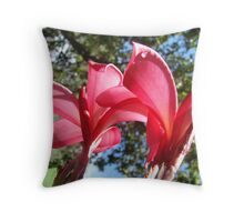 Twin Red Beauties Throw Pillow