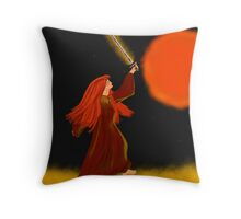 Queen of Fire Throw Pillow