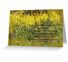 Faith of a Mustard Seed Greeting Card