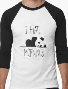 Panda Pain (I Hate Mornings) Men's Baseball ¾ T-Shirt