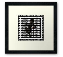 My Chemical Romance- The Sharpest Lives Print Framed Print