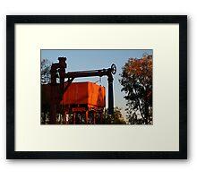 Red Glow,Old Ghan Railway Ruins Framed Print