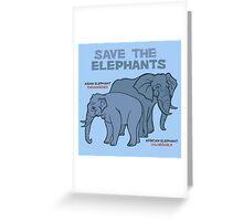 Save the Elephants Greeting Card