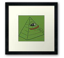 Pepe the smug frog - Pyramid edition Framed Print