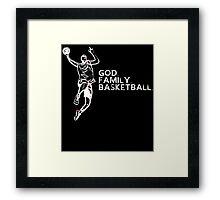 GOD FAMILY BASKETBALL Framed Print