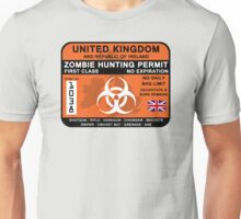 Zombie Hunting Permit - UK and ROI Unisex T-Shirt