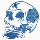Bluebubble Skull by eleni dreamel