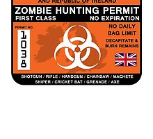 Zombie Hunting Permit - UK and ROI by nickk-harrisonn