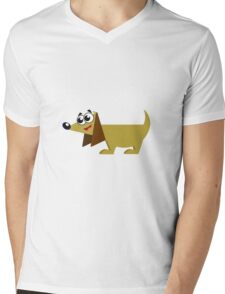 Doggy Mens V-Neck T-Shirt
