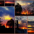 My Many Sunsets.......At Once... by Larry Llewellyn
