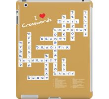 I Heart Crosswords iPad Case/Skin
