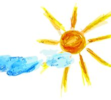 Hand Drawn Sun and Clouds 2 by AnnArtshock
