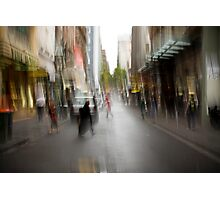 City in the Rain Photographic Print