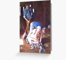 'Men at Work' Greeting Card