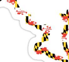 Maryland State Outline - Flag Sticker
