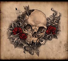 skull & roses by Steph Ruple