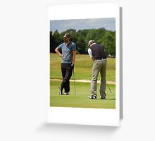 Pro Am Golfers Greeting Card