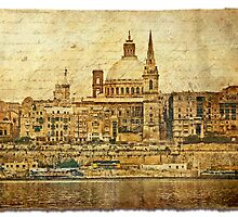 Forgotten Postcard - Valletta, Malta by Alison Cornford-Matheson