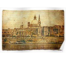 Forgotten Postcard - Valletta, Malta Poster