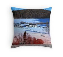 A sunny afternoon in winter wonderland | landscape photography Throw Pillow