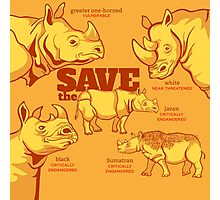 Save the Rhino Photographic Print